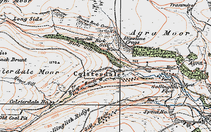 Old map of Agra Moor in 1925