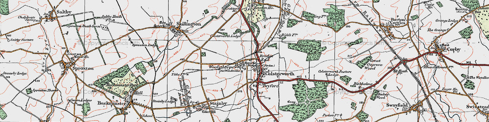 Old map of Colsterworth in 1922
