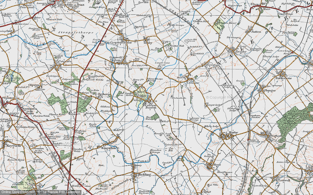 Old Map of Colston Bassett, 1921 in 1921