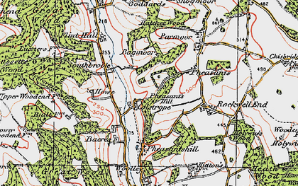 Old map of Colstrope in 1919