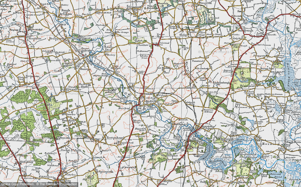 Old Map of Coltishall, 1922 in 1922