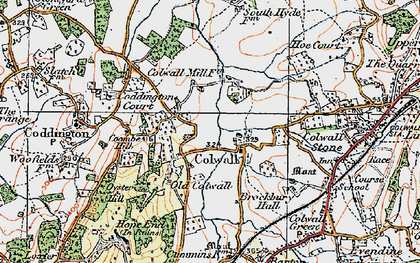 Old map of Colwall in 1920