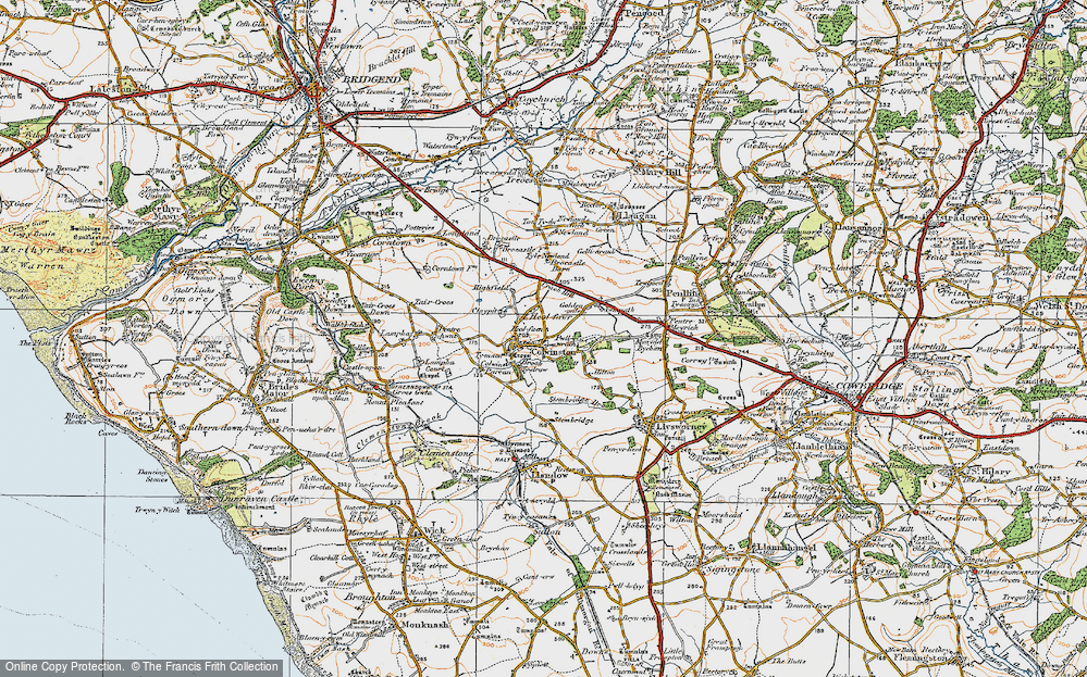Old Map of Colwinston, 1922 in 1922