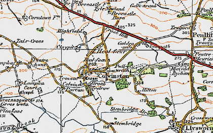 Old map of Colwinston in 1922