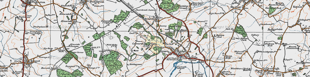 Old map of Tofte Manor in 1919