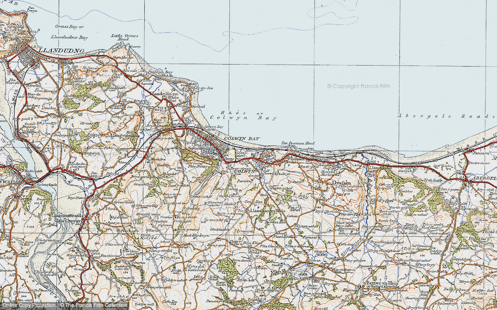 Old Map of Colwyn Bay, 1922 in 1922