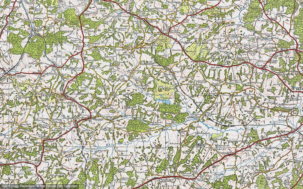 Old Map of Historic Map covering Wadhurst Park in 1920