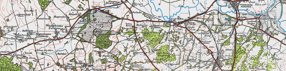 Old map of Windmill Barrow in 1919
