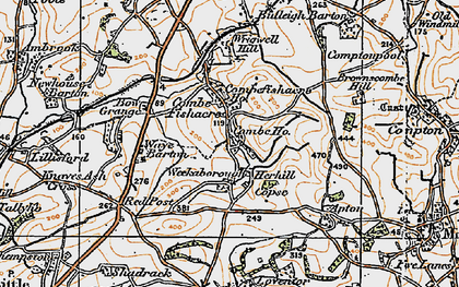 Old map of Wrigwell Hill in 1919