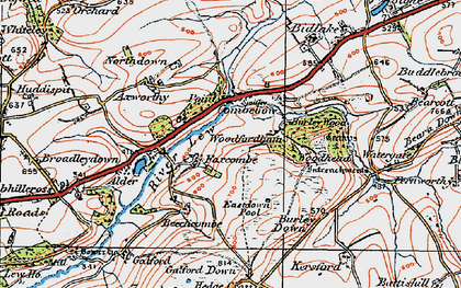 Old map of Axworthy in 1919