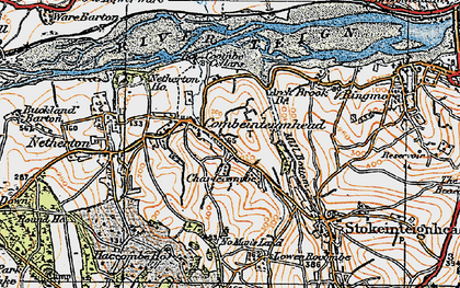 Old map of Combeinteignhead in 1919