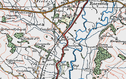 Old map of Limecrofts in 1921
