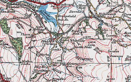 Old map of Combs in 1923