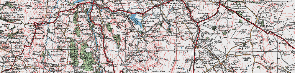Old map of Whitehills in 1923