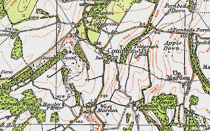 Old map of Compton in 1919