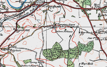 Old map of Wothersome in 1925