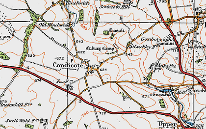 Old map of Condicote in 1919