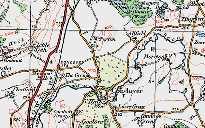 Old map of Allfield in 1921