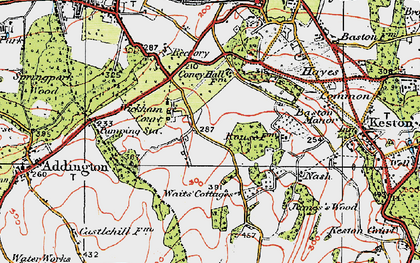 Old map of Wickham Court in 1920