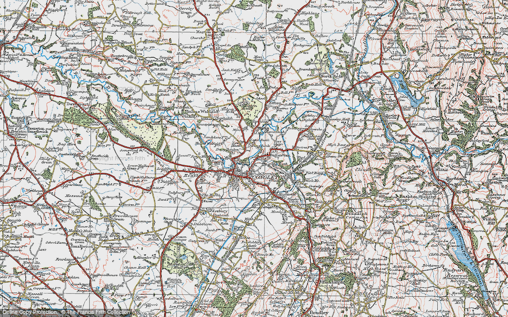 Old Map of Congleton, 1923 in 1923