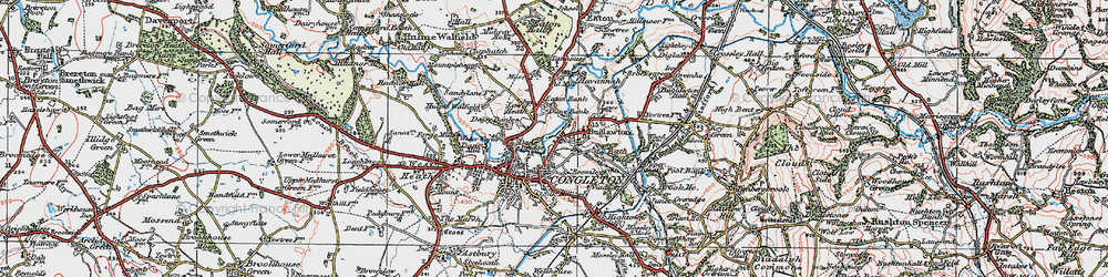 Old map of Congleton in 1923