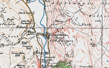 Old map of Conistone in 1925