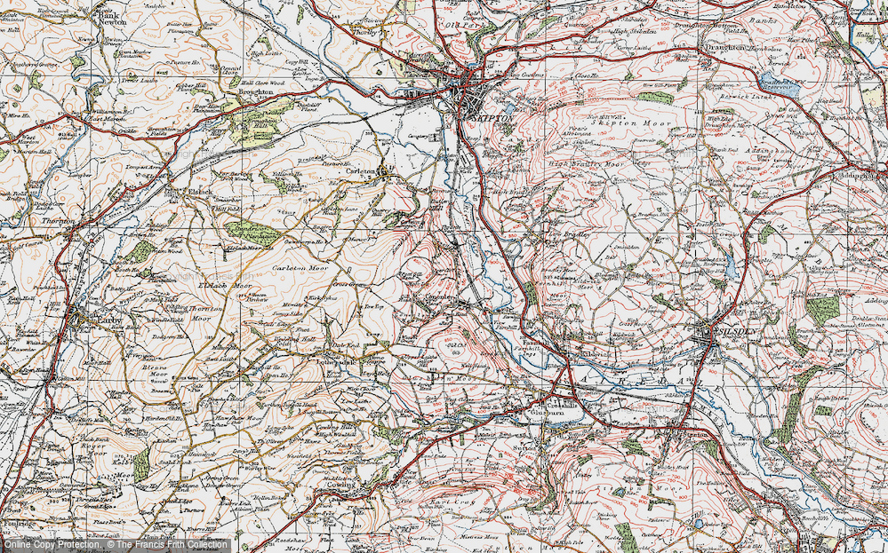 Old Map of Cononley, 1925 in 1925