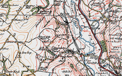 Old map of Cononley in 1925