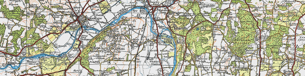 Old map of Widbrook Common in 1919