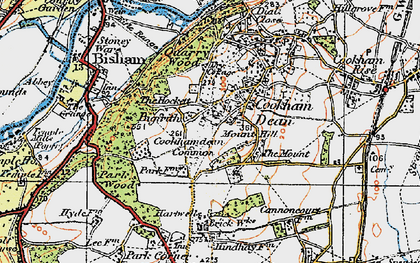 Old map of Cookham Dean in 1919