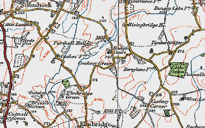 Old map of Badge Court in 1919