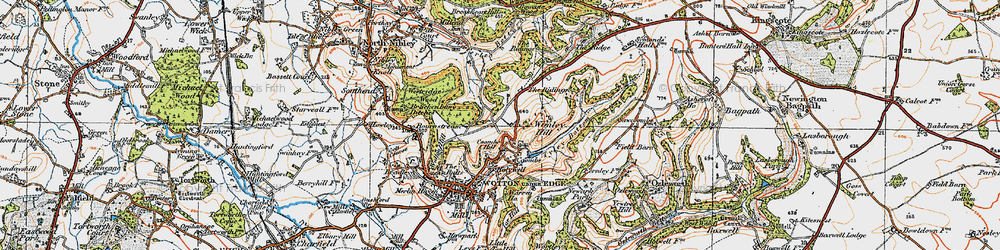 Old map of Wimley Hill in 1919