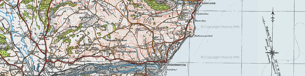Old map of Westbrook in 1919