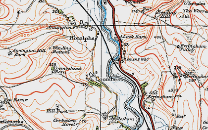 Old map of Winding Bottom in 1920