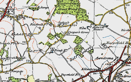 Old map of Cooper's Green in 1920