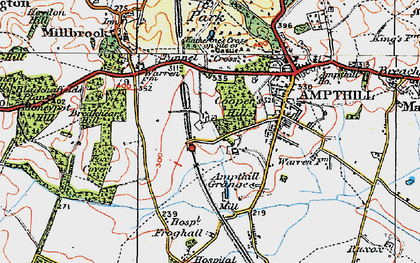 Old map of Cooper's Hill in 1919