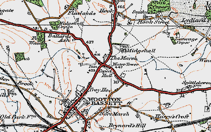 Old map of Woodshaw in 1919