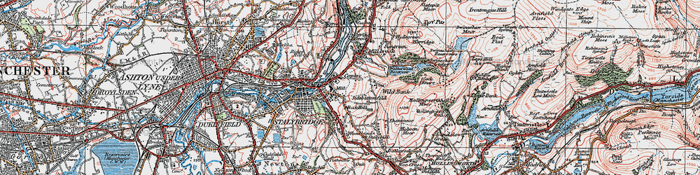 Old map of Wild Bank in 1924
