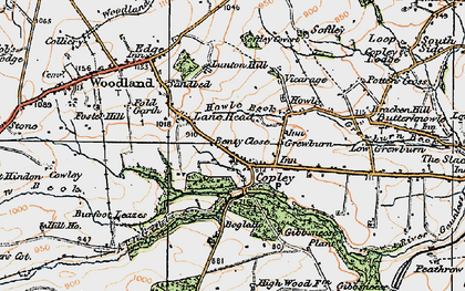 Old map of Wheatley Wood in 1925