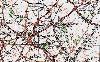 Old map of Wilton Park in 1925