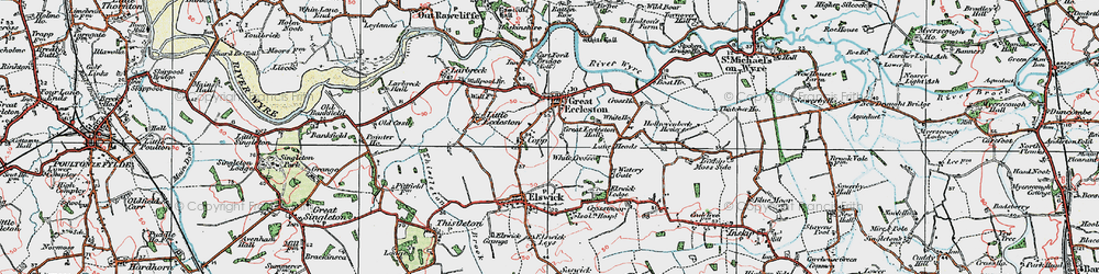 Old map of White Crosses in 1924
