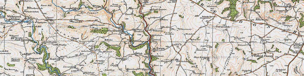 Old map of Widlake in 1919