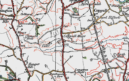 Old map of Langtree Old Hall in 1924