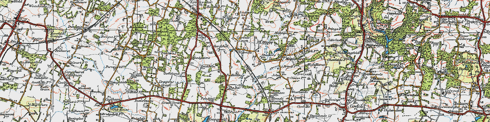 Old map of Alicelands in 1920