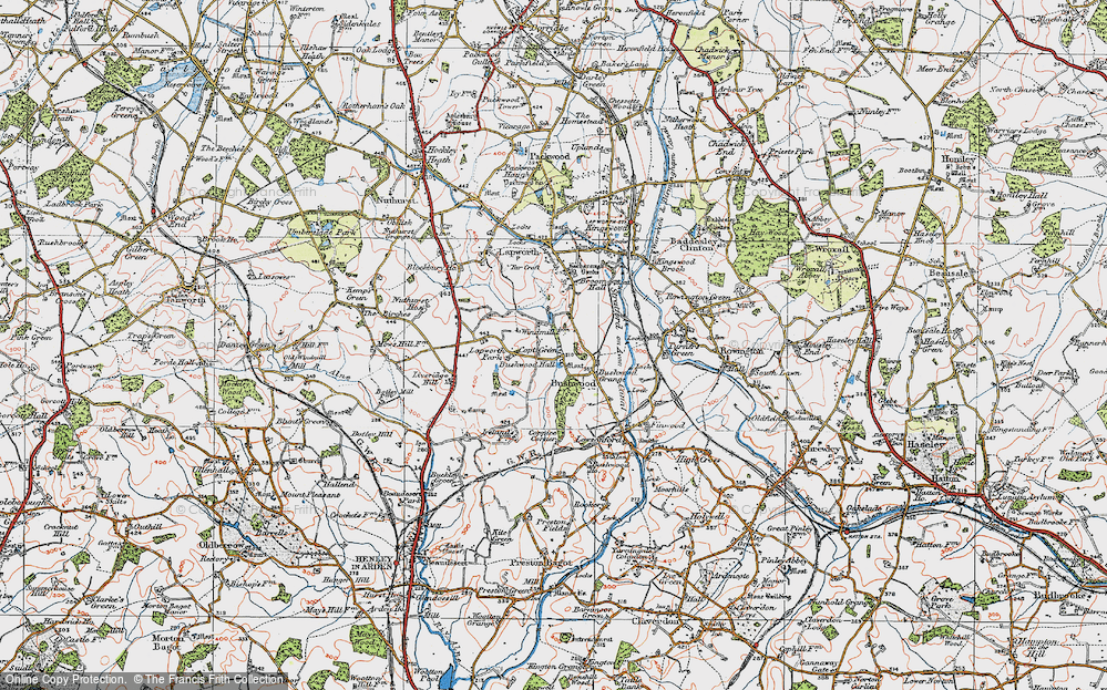 Old Map of Historic Map covering Lapworth Park in 1919