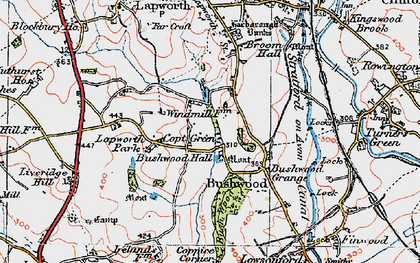 Old map of Lapworth Park in 1919