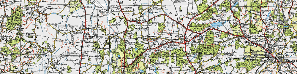 Old map of Copthorne Bank in 1920