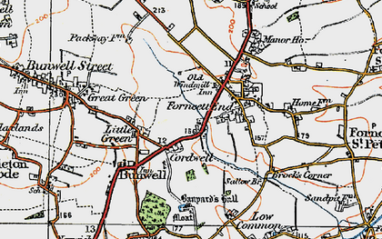 Old map of Banyards Hall in 1921