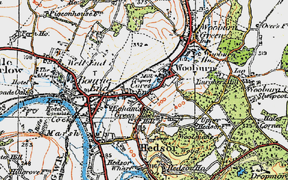 Old map of Cores End in 1919