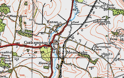Old map of Corhampton in 1919
